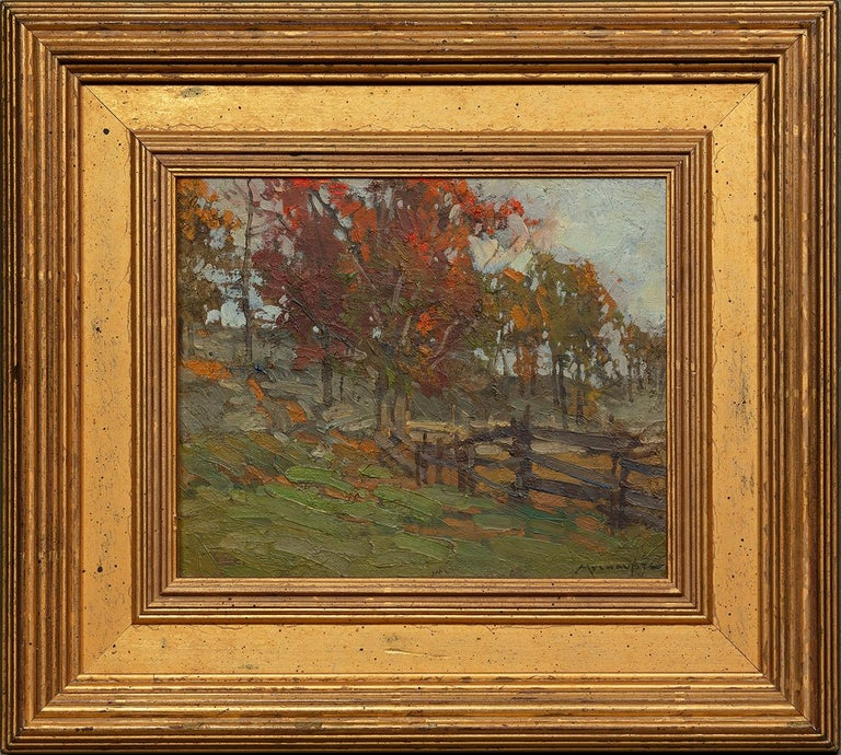 Hagstrom's Pasture, Cape Ann  - Painting by Frederick J. Mulhaupt