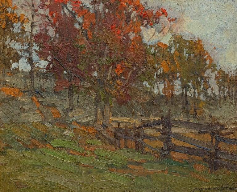 Frederick J. Mulhaupt Landscape Painting - Hagstrom's Pasture, Cape Ann