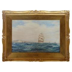 Frederick James Aldridge (1850-1933) British Water Color on Paper Gild Frame