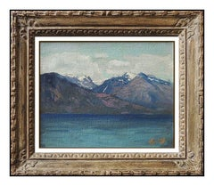 Frederick Judd Waugh Original Oil Painting On Board Antique Seascape Signed Art