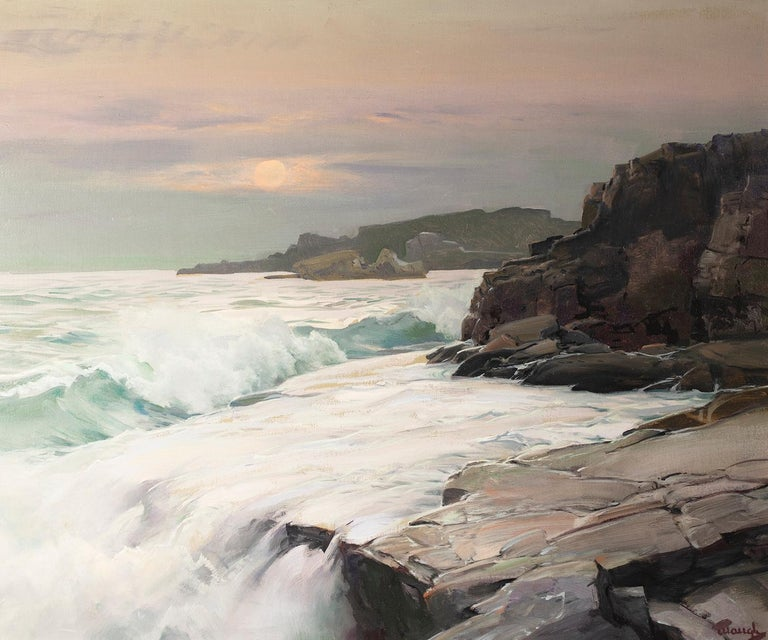 Mist Moon  - Painting by Frederick Judd Waugh