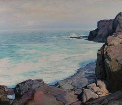 """Risen Moon, Monhegan"" Frederick Waugh, Maine New England Seascape"