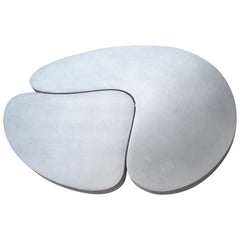 Frederick Kiesler, Cast Nesting Aluminum Coffee Tables 2 Parts, Biomorphic Cloud