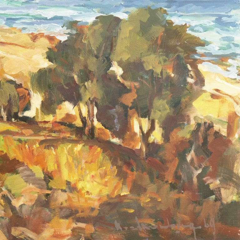 'Elsonore Coast and the Øresund Straits, Denmark', SFAA, California Artist - Painting by Frederick Korburg