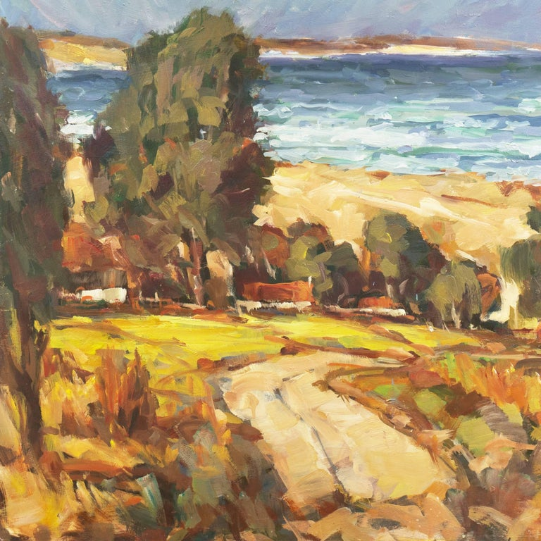 'Elsonore Coast and the Øresund Straits, Denmark', SFAA, California Artist For Sale 1