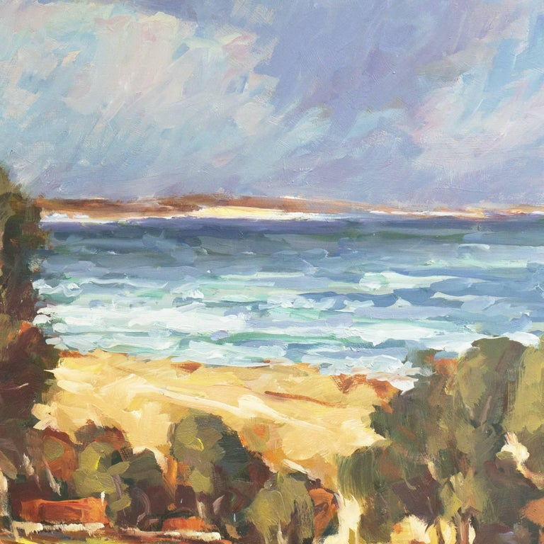 'Elsonore Coast and the Øresund Straits, Denmark', SFAA, California Artist For Sale 3