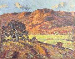 Post-Impressionist oil Landscape, 'San Gregorio, California'