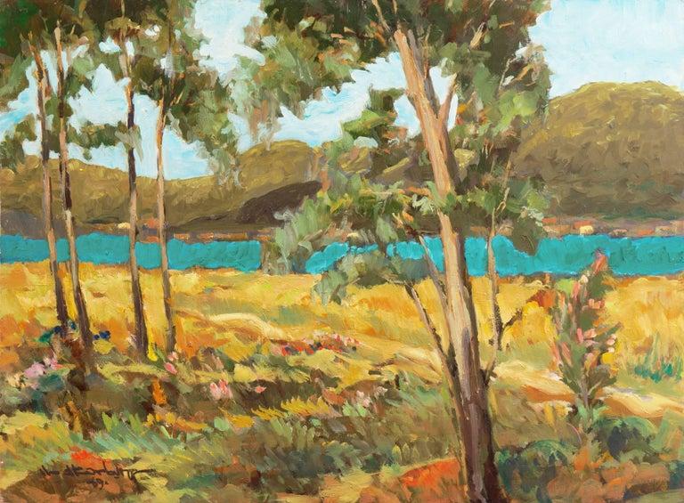 Frederick Korburg Post Impressionist California Landscape At 1stdibs