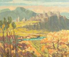 Post-Impressionist Landscape, 'View of Hohensalzburg Castle, Austria'