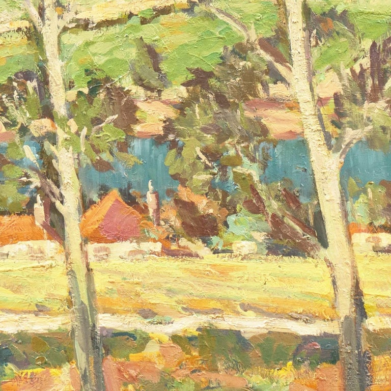 'Vineyards along the Moselle River', Germany, California Post-Impressionist  For Sale 4