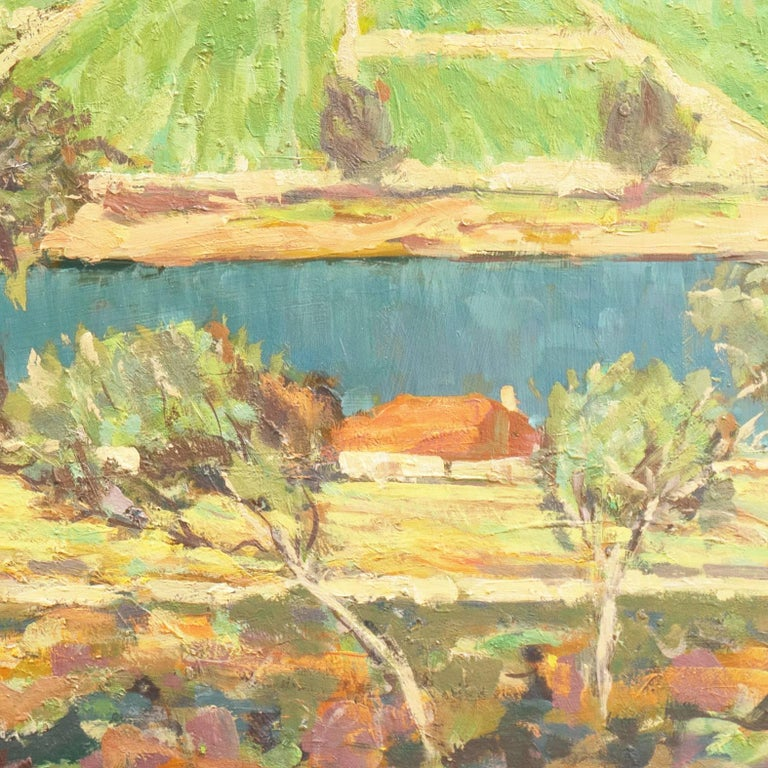 'Vineyards along the Moselle River', Germany, California Post-Impressionist  For Sale 5
