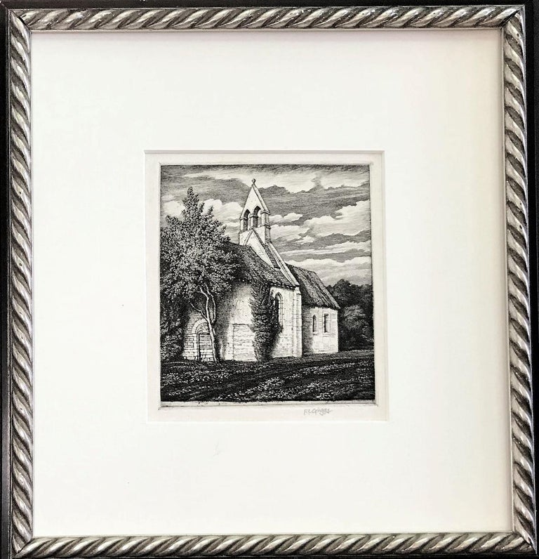 Frederick Landseer Griggs, R.A., R.E. Landscape Print - Netherton Chapel