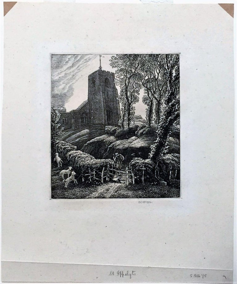 St. Ippolyts. - Print by Frederick Landseer Griggs, R.A., R.E.