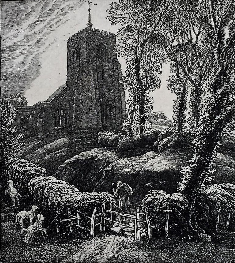 St. Ippolyts. - Modern Print by Frederick Landseer Griggs, R.A., R.E.
