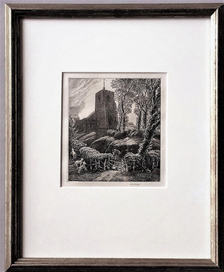 St. Ippolyts. - Gray Figurative Print by Frederick Landseer Griggs, R.A., R.E.