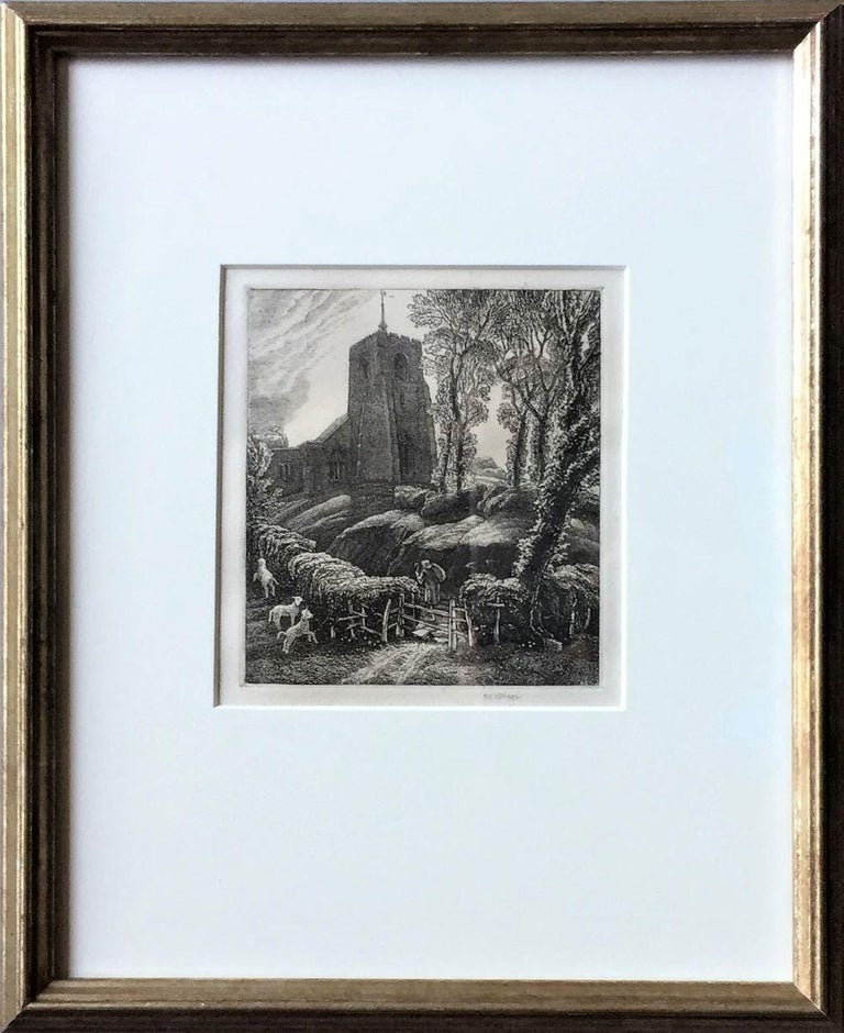 Frederick Landseer Griggs, R.A., R.E. Figurative Print - St. Ippolyts.