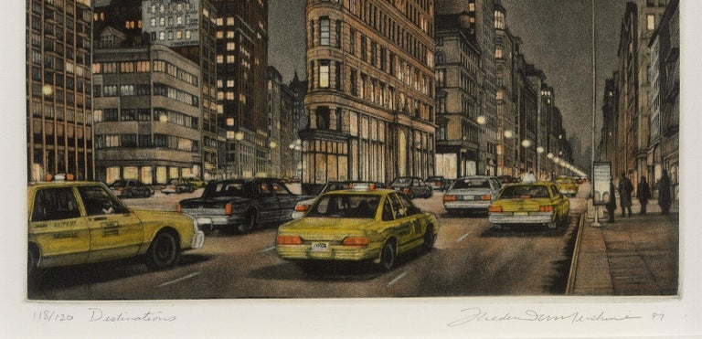 Destinations (Flatiron Bidg, 5th Avenue and Broadway at 23rd Street) - Contemporary Print by Frederick Mershimer