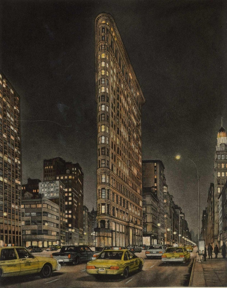 Frederick Mershimer Landscape Print - Destinations (Flatiron Bidg, 5th Avenue and Broadway at 23rd Street)