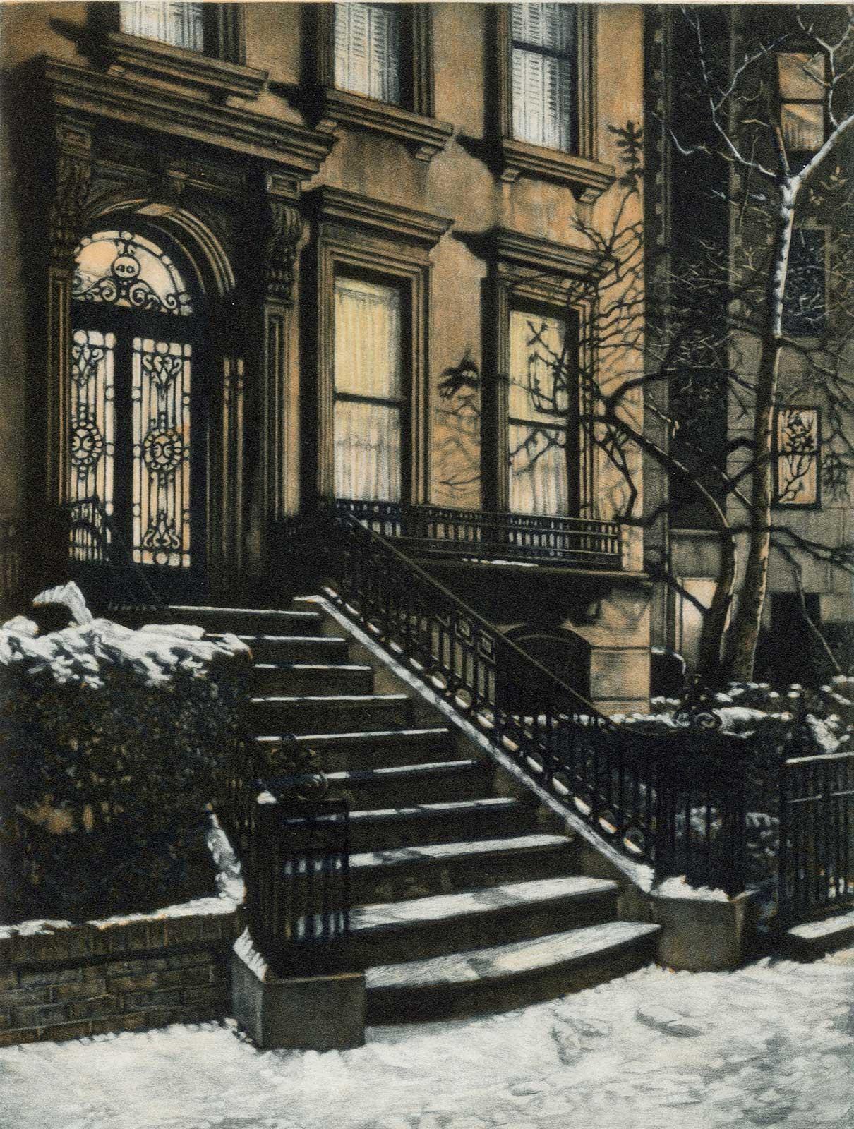 Footsteps (43 Pierrepont Street in Brooklyn Heights)