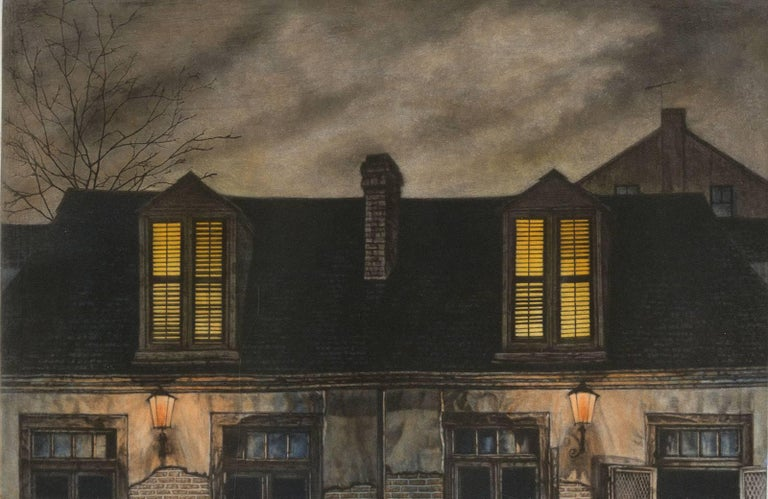 Frederick Mershimer Landscape Print - Lafitte's Blacksmith House (a bar named for a pirate on Bourbon St, New Orleans)