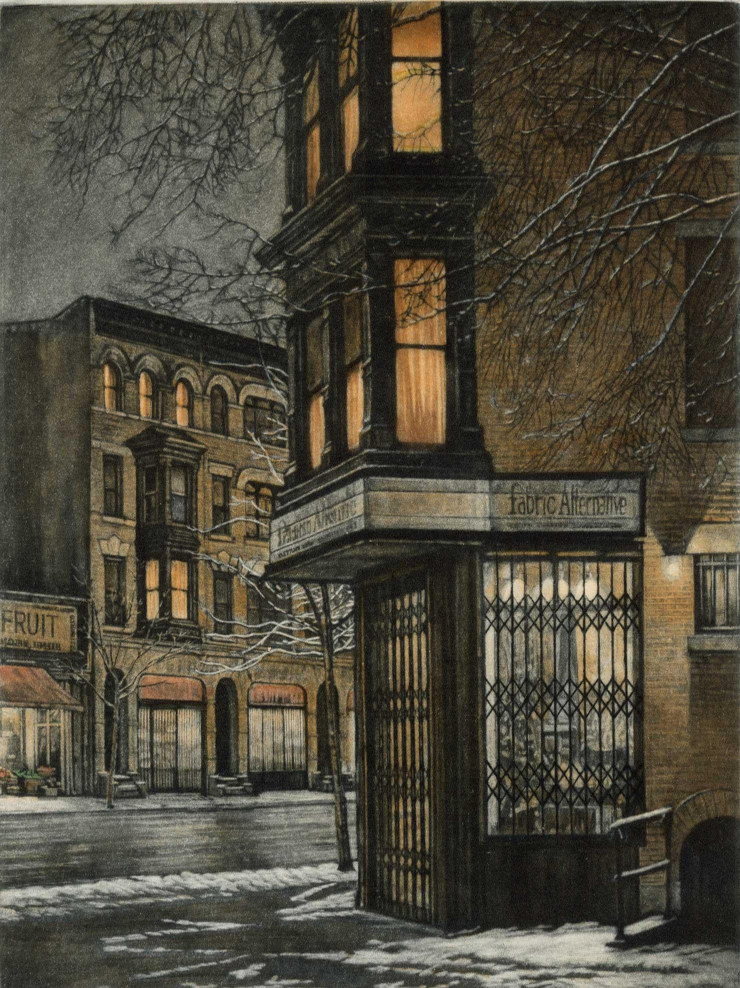 Late Night (Where Berkeley Place meets Seventh Avenue in Brooklyn's Park Slope)