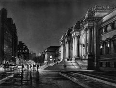 Museum Night (a night view of life on Fifth Ave by NYC's Metropolitan Museum)