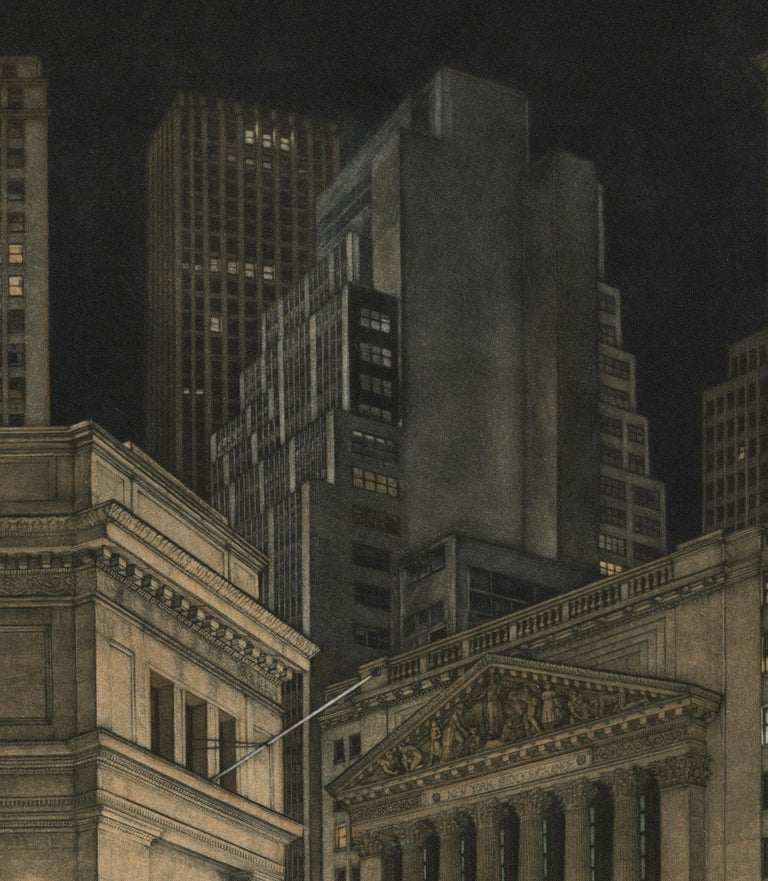 New York Stock Exchange (Symbolic icon of Wall St.'s vast power and wealth) - Contemporary Print by Frederick Mershimer