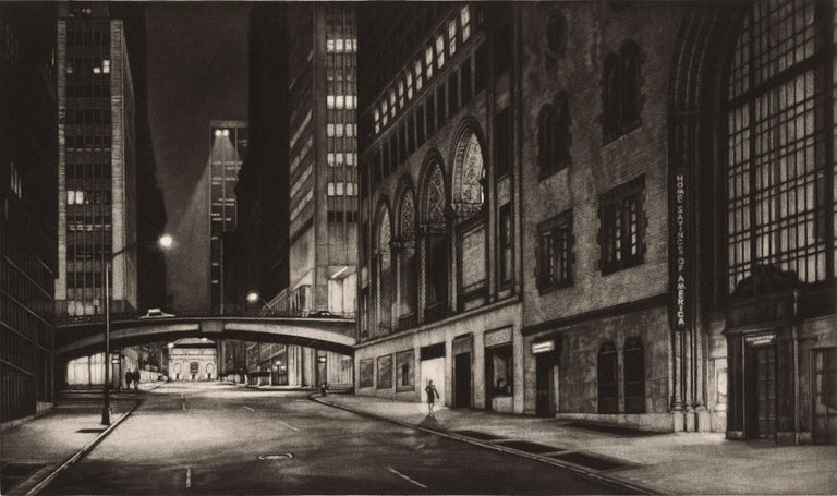 Frederick Mershimer Figurative Print - Passage (Inaugural Selection of Print Club of New York / E41st bet Lex and Park)