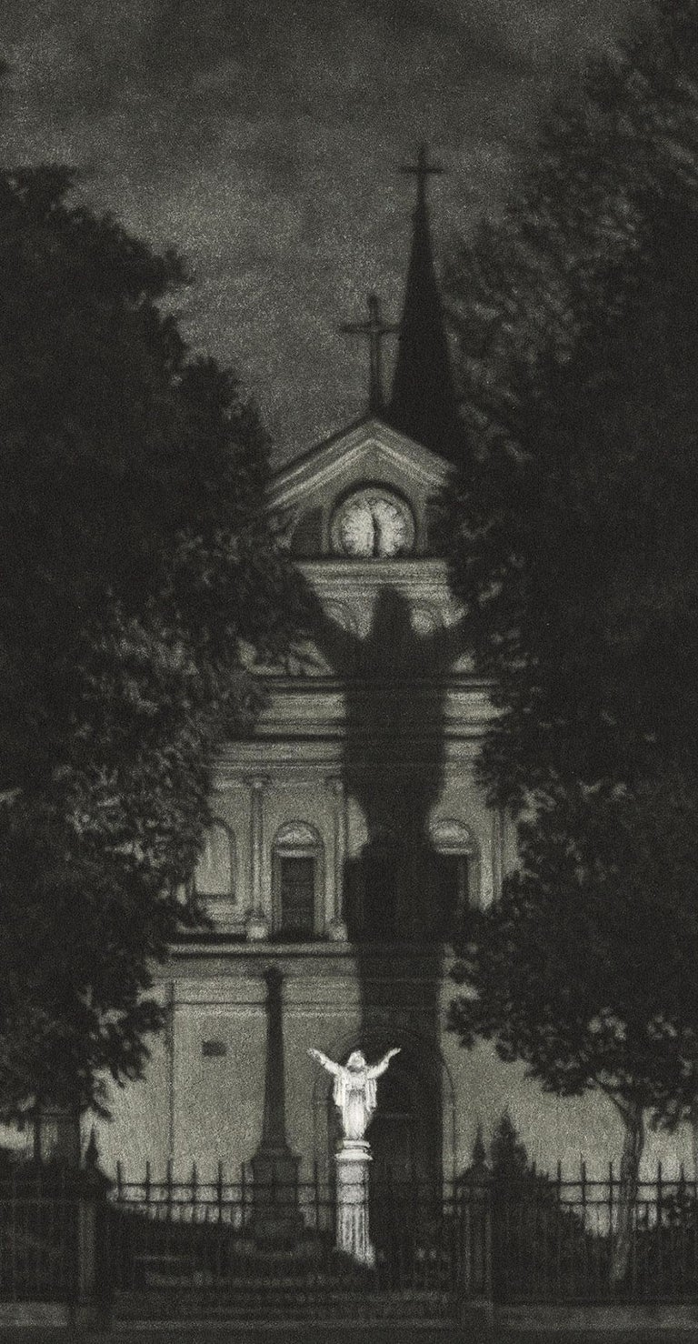 Sanctuary (St. Anthony's Garden at rear of St. Louis Cathedral on Royal Street) - Print by Frederick Mershimer
