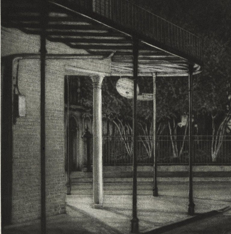 Sanctuary (St. Anthony's Garden at rear of St. Louis Cathedral on Royal Street) - American Modern Print by Frederick Mershimer