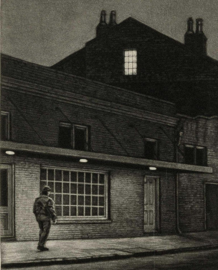 The Rising Sun (Lone man by 700 Burgundy in New Orleans at gay bar, Rawhide) - Print by Frederick Mershimer