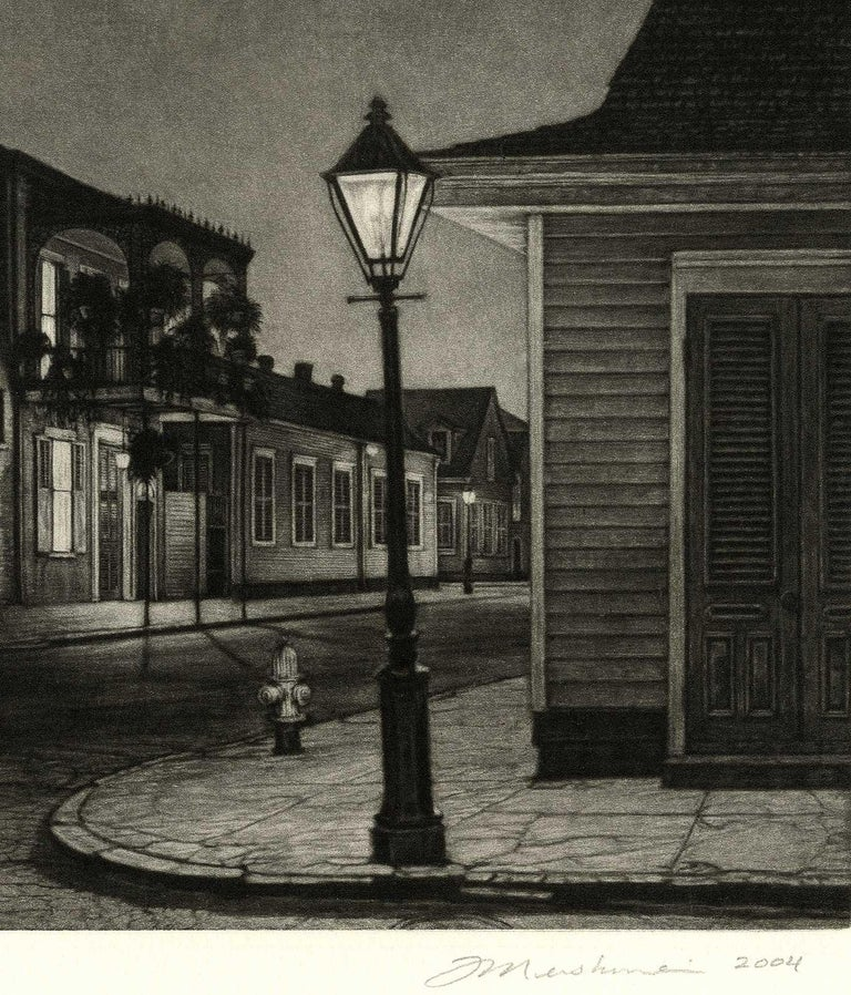 The Rising Sun (Lone man by 700 Burgundy in New Orleans at gay bar, Rawhide) - American Modern Print by Frederick Mershimer