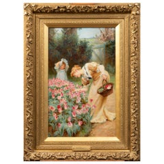 Frederick Morgan Picking Tulips, 19th Century Painting
