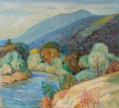 Carmel Valley Landscape in Oil, 20th Century