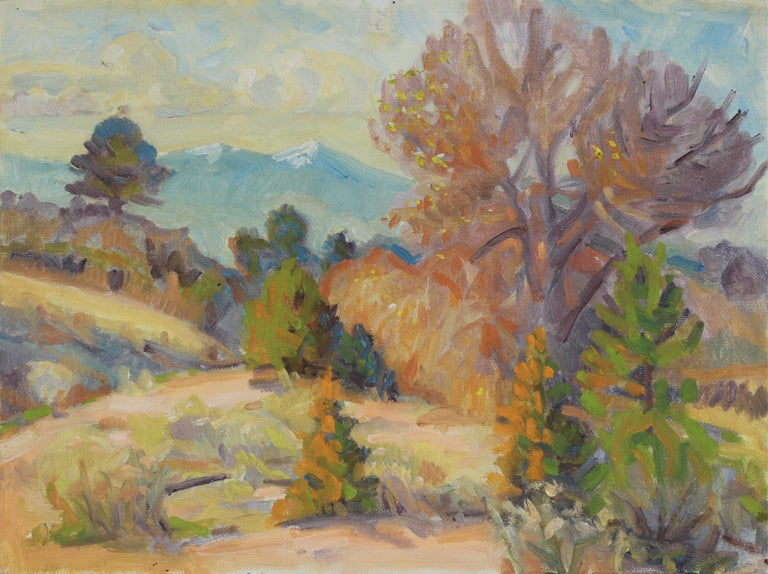 Frederick Pomeroy Landscape Painting - Desert Scrub Landscape 20th Century Oil Painting