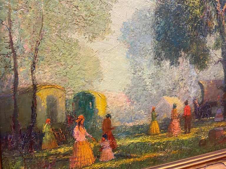 Gypsies - American Impressionist Painting by Frederick Rushing Roe