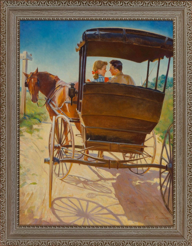 The Carriage Ride - Painting by Frederick Sands Brunner