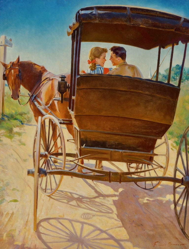 Frederick Sands Brunner Figurative Painting - The Carriage Ride