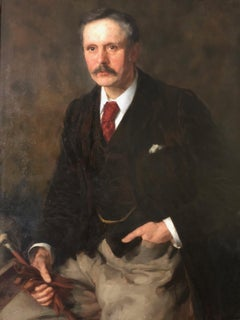 19th Century Oil Portrait Painting by Frederick Stead