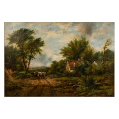Frederick Waters Watts 1800-1862 the Timber Wagon, Dedham Oil on Canvas