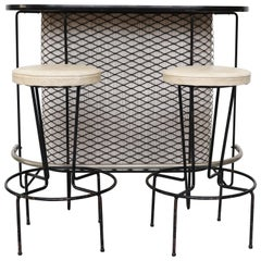 Frederick Weinberg Bar Midcentury Bar and Stool Set