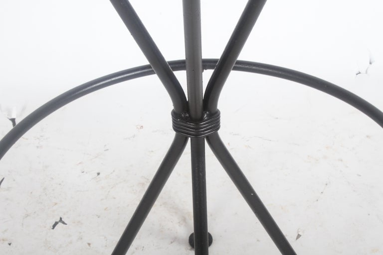 Painted Frederick Weinberg Midcentury Swivel Bar Stool For Sale