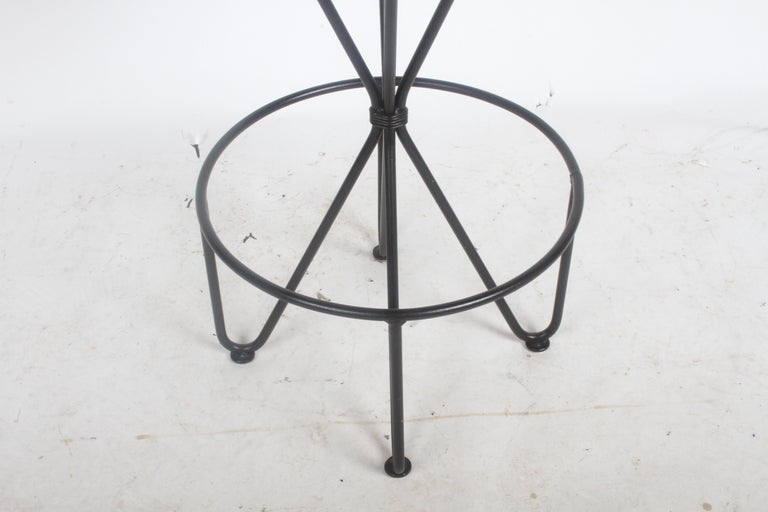 Mid-20th Century Frederick Weinberg Midcentury Swivel Bar Stool For Sale