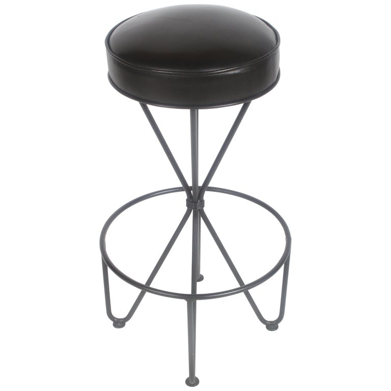 Frederick Weinberg Midcentury Swivel Bar Stool For Sale