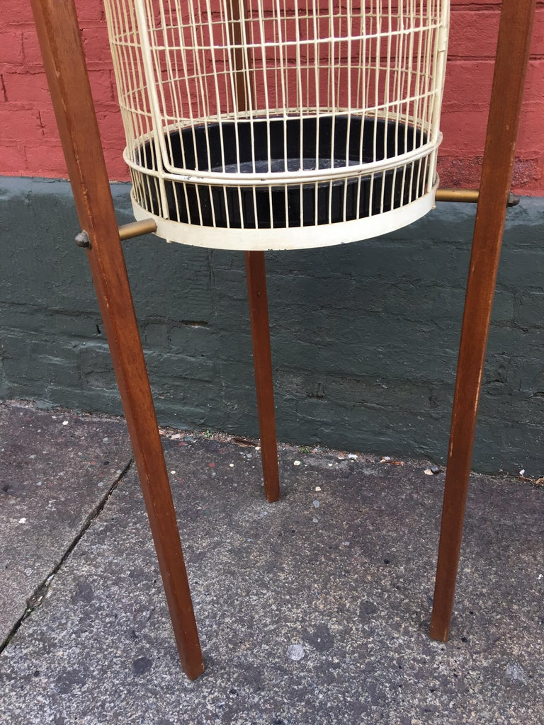 Frederick Weinberg Standing Birdcage In Good Condition For Sale In Philadelphia, PA