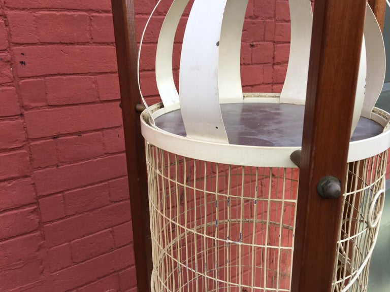 Metal Frederick Weinberg Standing Birdcage For Sale