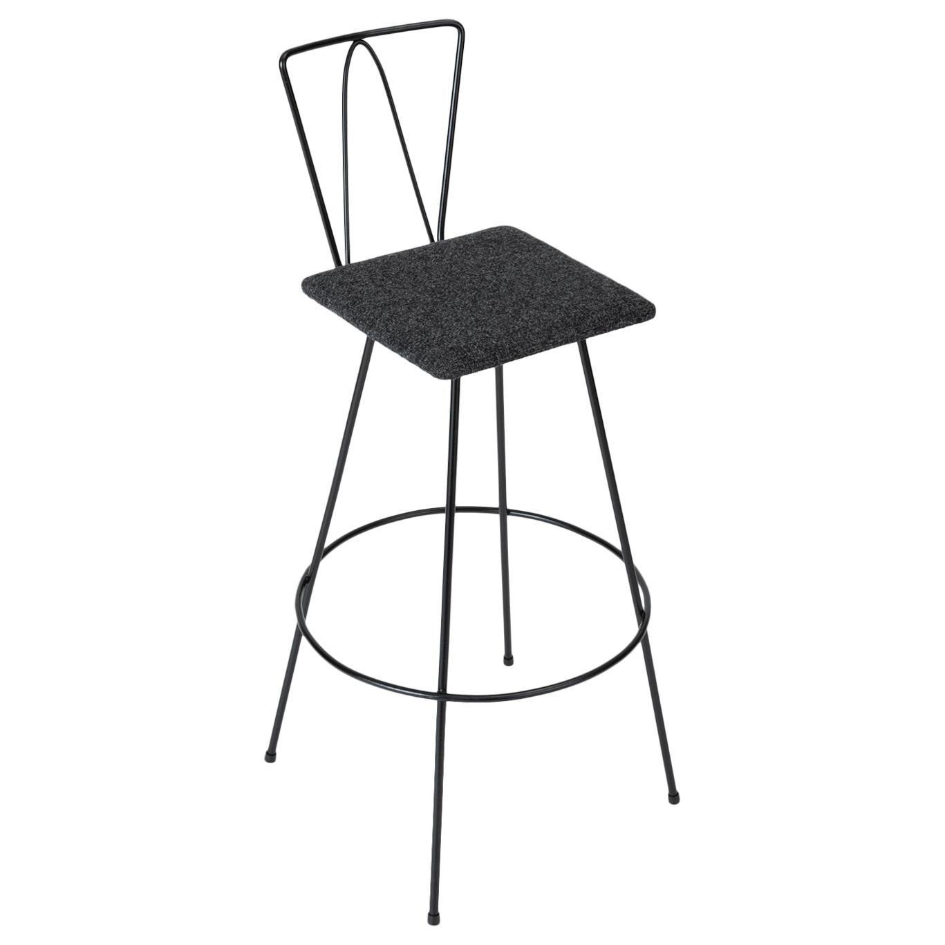 Frederick Weinberg Style Modernist Wire Bar Stool