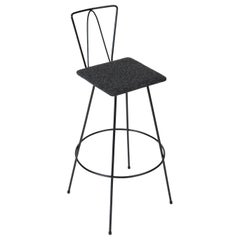 Frederick Weinberg Style Modernist Wire Bar Stool
