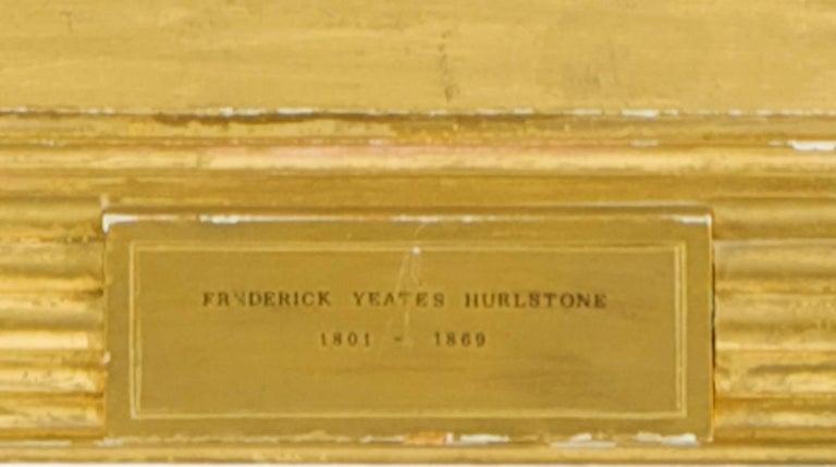 Regency Sisters, A Portrait of Two Children - Fredrick Yeates Hurlestone - Brown Portrait Painting by Frederick Yeates Hurlestone
