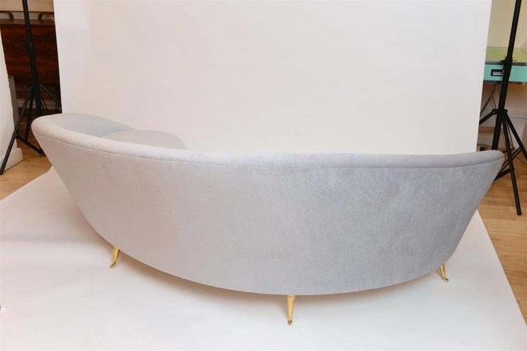 Frederico Munari Curved Sofa, circa 1950 In Excellent Condition In London, GB